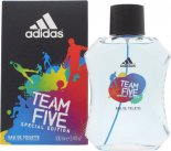 Adidas Team Five Eau De Toilette 100ml Spray<br />Mænd