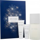 Issey Miyake L'Eau d'Issey Pour Homme Gift Set 125ml EDT + 75ml Shower Gel + 50ml Aftershave Balm<br />Mænd