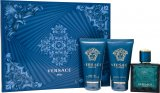 Versace Eros Gift Set 50ml EDT + 50ml Aftershave Balm + 50ml Shower Gel<br />Mænd