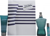 Jean Paul Gaultier Le Male Gift Set 125ml EDT + 75ml All-Over Shower Gel + 9ml Pocket Spray<br />Mænd