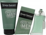 Bruno Banani Made for Men Gift Set 50ml EDT Spray + 150ml Shower Gel<br />Mænd