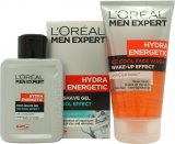 L'Oreal Men Expert Hydra Energetic Kick Start Kit Gift Set 150ml Ice Cool Face Wash + 100ml Ice Cool Post Shave Gel<br />Mænd