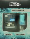 L'Oreal Men Expert Paris Men Expert Cool Power Gift Set 300ml Shower Gel + 150ml Anti-Perspirant Spray<br />Mænd