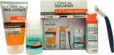 L'Oreal Men Expert Hydra Energetic Gift Set 50ml Fresh Extreme Anti-Perspirant Deo Roll-On + 50ml Charcoal Wash + 20ml Anti-Fatigue Moisturiser + 50ml Anti-Irritation Shaving Foam<br />Mænd