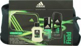 Adidas Sport Field Gift Set 100ml EDT + 150ml Body Spray + 250ml Shower Gel + Bag<br />Mænd