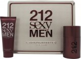 Carolina Herrera 212 Sexy Men Gift Set 50ml EDT + 75ml A/Shave Balm<br />Mænd