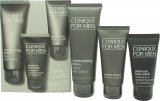 Clinique For Men Gift Set 100ml Moisturizing Lotion + 60ml Cream Shave + 50ml Charcoal Face Wash<br />Mænd