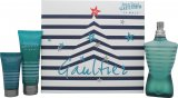 Jean Paul Gaultier Le Male Gift Set 125ml EDT Spray + 75ml Shower Gel + 30ml Aftershave Balm<br />Mænd