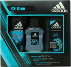Adidas Ice Dive Gavesæt 50ml EDT + 250ml Shower Gel + 150ml Deodorant Body Spray<br />Mænd