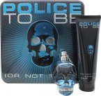 Police To Be Gavesæt 75ml EDT + 100ml All Over Body Shampo<br />Mænd