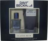 David & Victoria Beckham Classic Blue David Beckham Classic Blue Gift Set 40ml EDT + 200ml Hair & Body Wash<br />Mænd