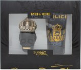 Police To Be The King Gift Set 40ml EDT Spray + 100ml All Over Body Shampoo<br />Mænd