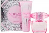 Versace Bright Crystal Absolu Gift Set 90ml EDP + 100ml Body Lotion<br />Kvinder