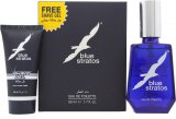 Parfums Bleu Limited Blue Stratos Gift Set 50ml EDT + 25ml Shave Gel<br />Mænd