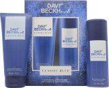 David & Victoria Beckham Classic Blue David Beckham Classic Blue Gift Set 150ml Body Spray + 200ml Hair & Body Wash<br />Mænd
