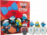 Smølferne Gammelsmølf (Papa) The Smurfs Blue Style Gift Set 4 x 50ml EDT Spray - Papa + Clumsy + Smurfette + Brainy<br />Unisex