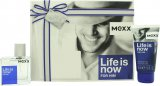 Mexx Life Is Now for Him Gift Set 30ml EDT + 50ml Shower Gel<br />Mænd