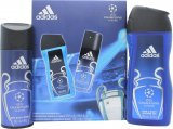 Adidas Adidas Uefa Champions League Edition UEFA Champions League Edition Gift Set 150ml Body Spray + 250ml Shower Gel<br />Mænd