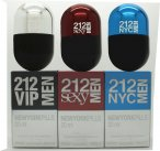 Carolina Herrera 212 VIP Men 212 Men New York Pills Gift Set 20ml 212 VIP Men EDT + 20ml 212 Sexy Men EDT + 20ml 212 Men NYC EDT<br />Mænd