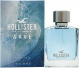 Hollister Hollister Wave For Him Wave For Him Eau de Toilette 50ml Spray<br />Mænd