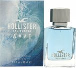 Hollister Hollister Wave For Him Wave For Him Eau de Toilette 30ml Spray<br />Mænd