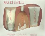 Instituto Español Aire de Sevilla Gift Set 150ml EDT Spray + 150ml Exfoliant Gel + 150ml Body Cream<br />Kvinder