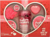 I Love... Bath and Shower A Big Box Of Love Raspberry & Blackberry 500ml Bubble Bath + 100ml Sugar Scrub + 100ml Body Butter + 10ml Lip Balm + 60g Soap + Sponge<br />Kvinder