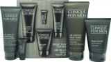 Clinique For Men Gift Set 200ml Oil-Control Face Wash + 100ml Face Scrub + 100ml Oil-Control Mattifying Moisturiser + 5ml Anti-Fatigue Cooling Eye Gel<br />Mænd