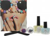 Ciaté Flower Manicure Ciate Flower Manicure Bada-A-Boom Gift Set 13.5ml Speed Coat Pro Fast Dry Top Coat + 5ml Mini Paint Pot in Blue + Tweezers + Emery Board + Flower Details<br />Kvinder