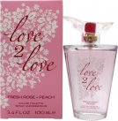 Love2Love Fresh Rose + Peach Eau de Toilette 100ml Spray<br />Kvinder