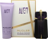Thierry Mugler Alien Gift Set 60ml EDP Spray + 100ml Body Lotion<br />Kvinder