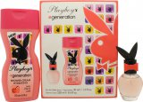 Playboy Generation For Her Gift Set 30ml EDT + 250ml Shower Cream<br />Kvinder