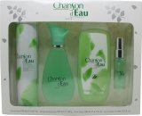 Coty Chanson d'Eau Gift Set 100ml EDT + 15ml EDT + 200ml Shower Gel + 200ml Deodorant Body Spray<br />Kvinder