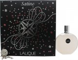 Lalique Satine Gift Set 100ml EDP + Necklace<br />Kvinder
