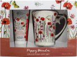 Bronnley Poppy Meadow Gift Set 250ml Shower Gel + 250ml Body Lotion + Body Puff + Bag<br />Kvinder