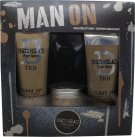 Tigi Bed Head For Men Man On Gift Set 250 Shampoo + 200ml Conditioner + 85g Workable Wax<br />Mænd