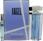 Thierry Mugler Angel Gift Set 100ml EDP Refillable + 7.5ml EDP<br />Kvinder