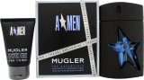Thierry Mugler A*Men Gift Set 100ml EDT Refillable + 50ml Shower Gel<br />Mænd