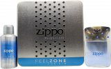 Zippo Feelzone For Him Gift Set 75ml EDT +  150ml Deodorant Spray<br />Mænd