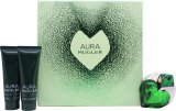 Thierry Mugler Aura Gift Set 30ml EDP + 50ml Body Lotion + 50ml Shower Gel<br />Kvinder
