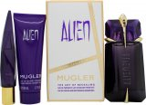 Thierry Mugler Alien Gift Set 60ml Refillable EDP + 50ml Shower Milk + 10ml EDP<br />Kvinder