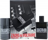 Zadig & Voltaire This is Him Gift Set 50ml EDT + 75g Deodorant Stick<br />Mænd