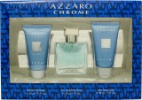 Azzaro Chrome Gift Set 30ml EDT + 50ml Shower Gel + 50ml Aftershave Balm<br />Mænd