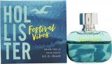 Hollister Festival Vibes For Him Eau de Toilette 100ml Spray<br />Mænd