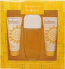 Elizabeth Arden Sunflowers Gavesæt 100ml EDT + 100ml Body Lotion + 100ml Cream Cleanser<br />Kvinder