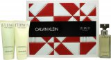 Calvin Klein Eternity Gavesæt 50ml EDP + 100ml Shower Gel + 100ml Body Lotion<br />Kvinder
