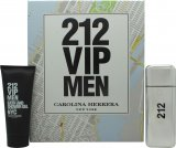 Carolina Herrera 212 VIP Men Gavesæt 100ml EDT + 100ml Body Shower Gel<br />Mænd