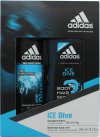 Adidas Ice Dive Gavesæt 150ml Deodorant Body Spray + 250ml Shower Gel<br />Mænd